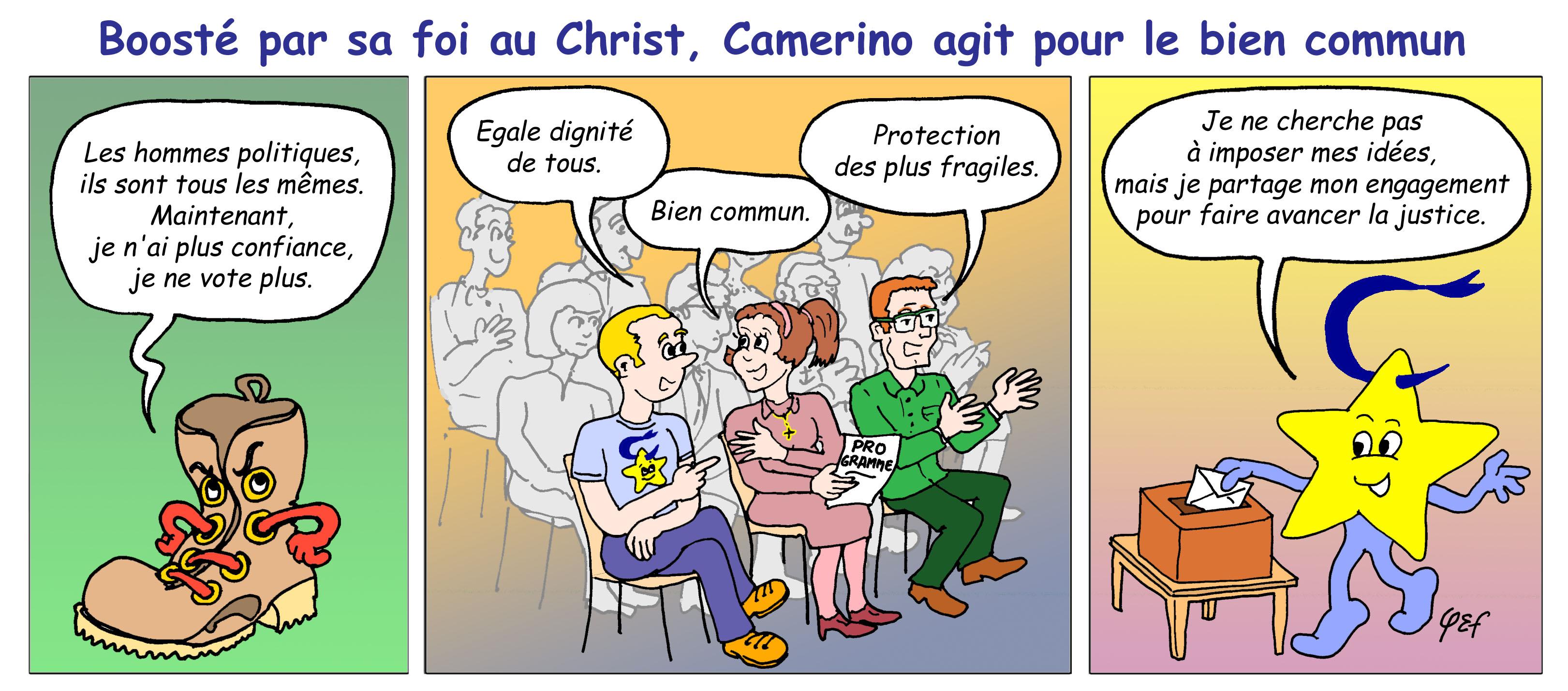 Camérino et les élections (couleur)