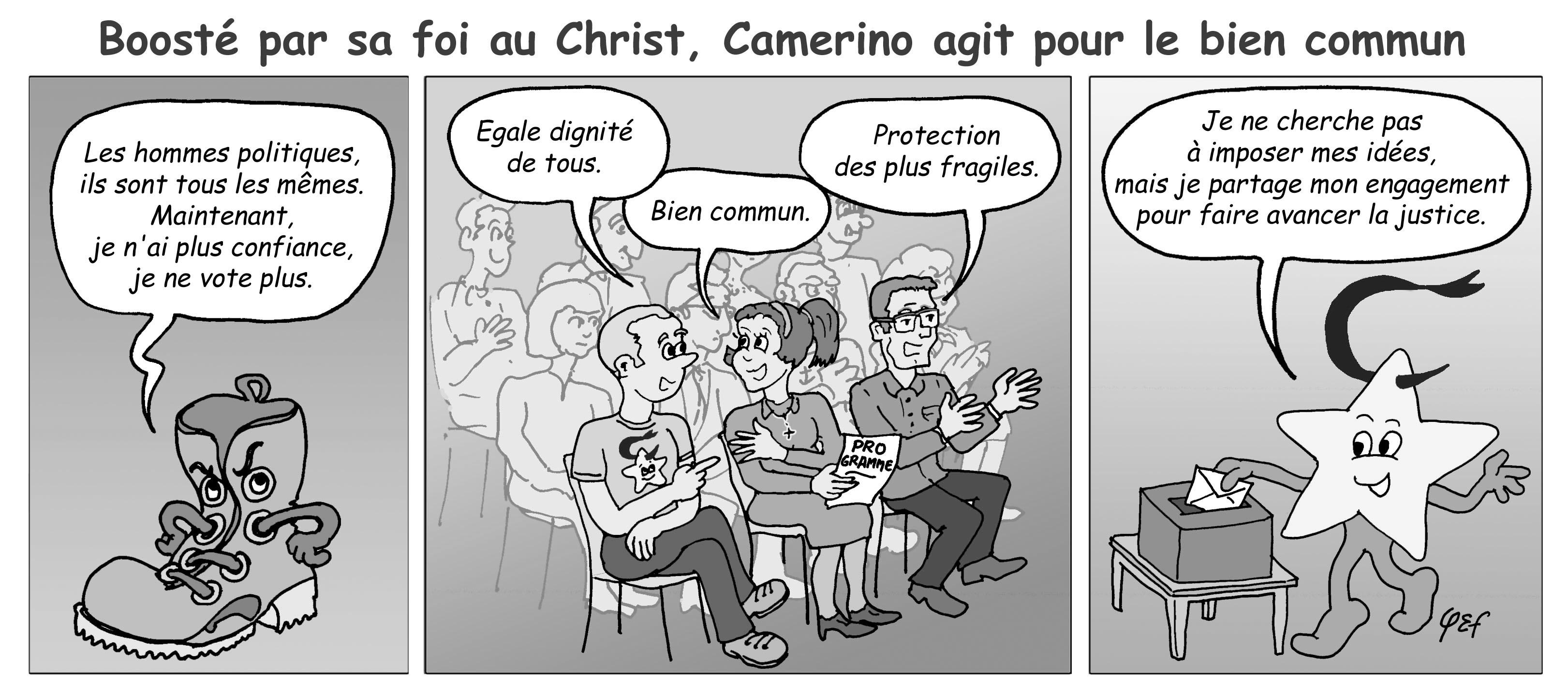 Camérino et les élections (grisé)