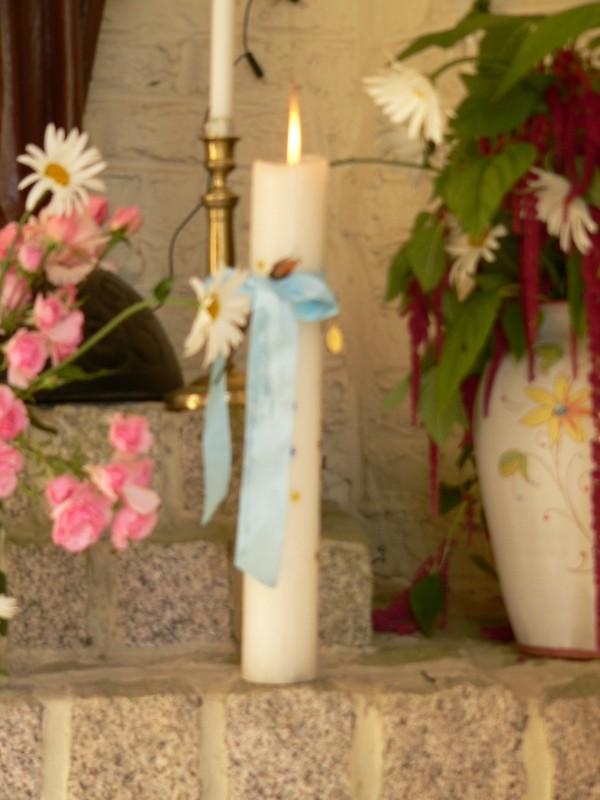 Le cierge décoré