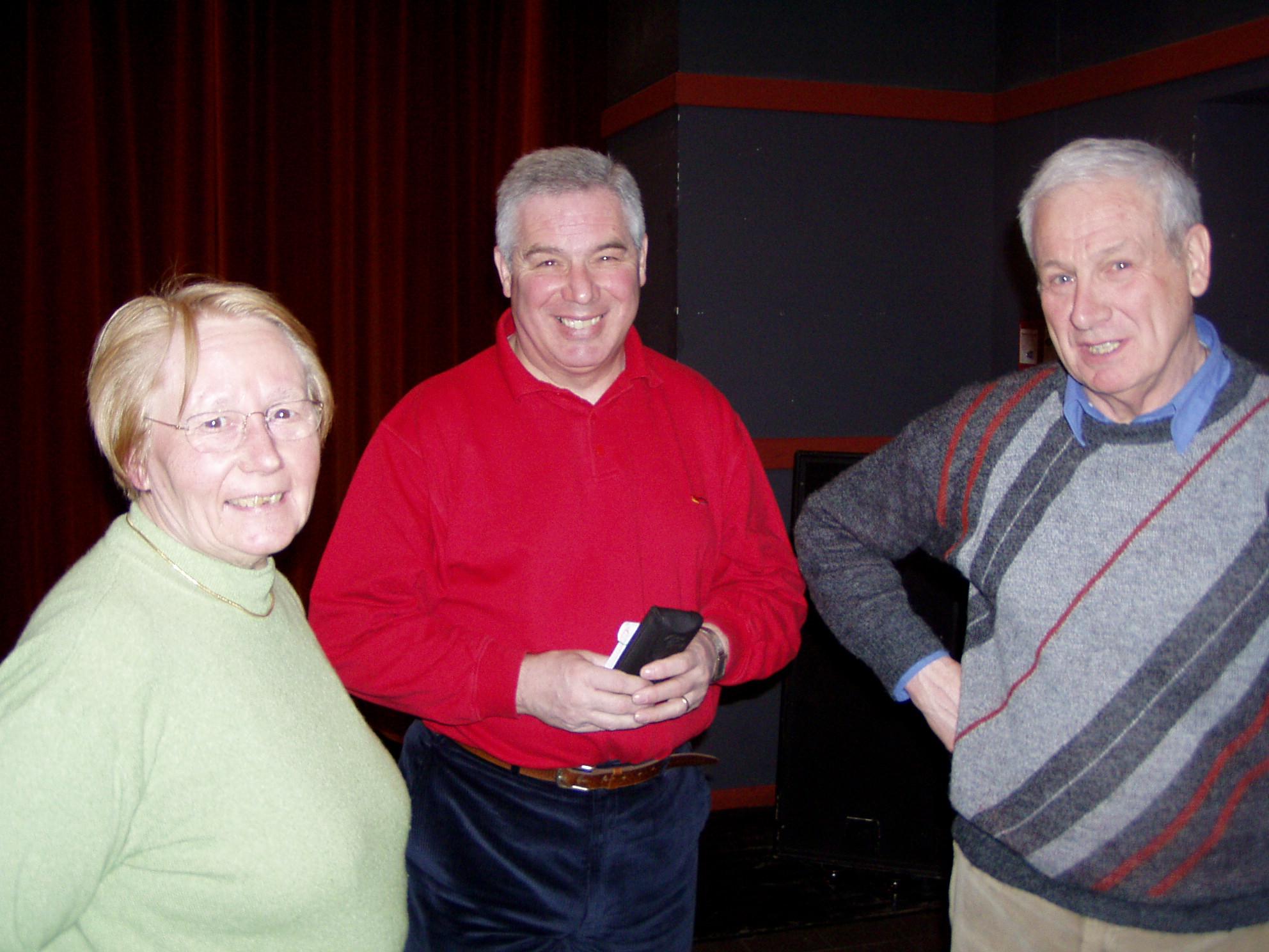 Colette, coordinatrice, avec Hervé et Louis