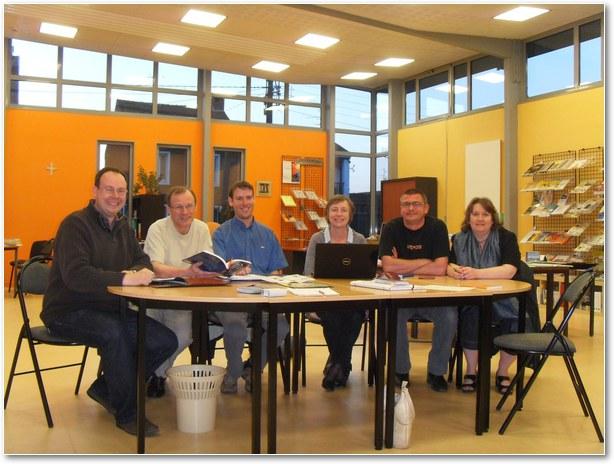 De gauche à droite : Yannick Lemaire, Eric Hautcoeur, Samuel Jette, Véronique Régent, Eric Danneels, Béatrice Waignier.