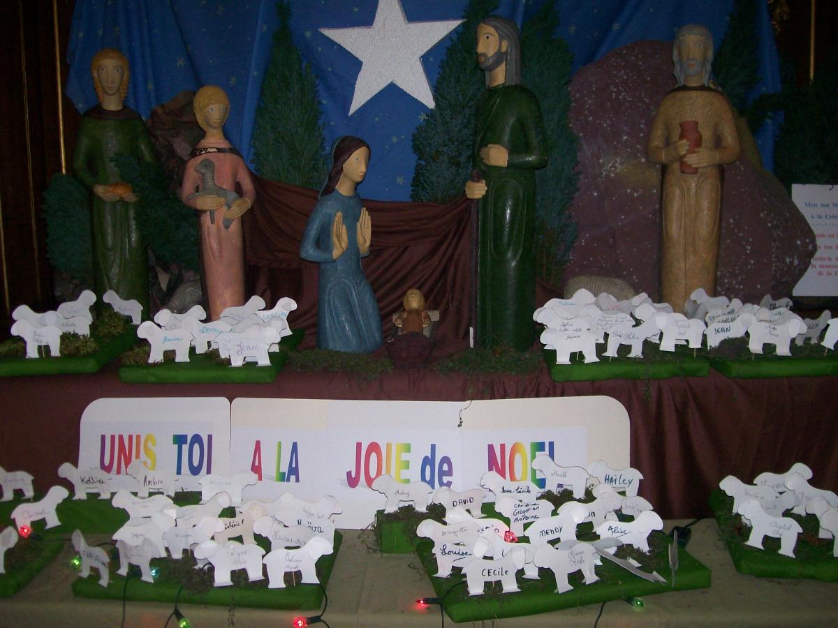 chacun a pu contempler ''Jésus, Berger de toute humanité'' en inscrivant son nom sur un mouton