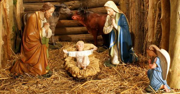 Crèche de Noël.