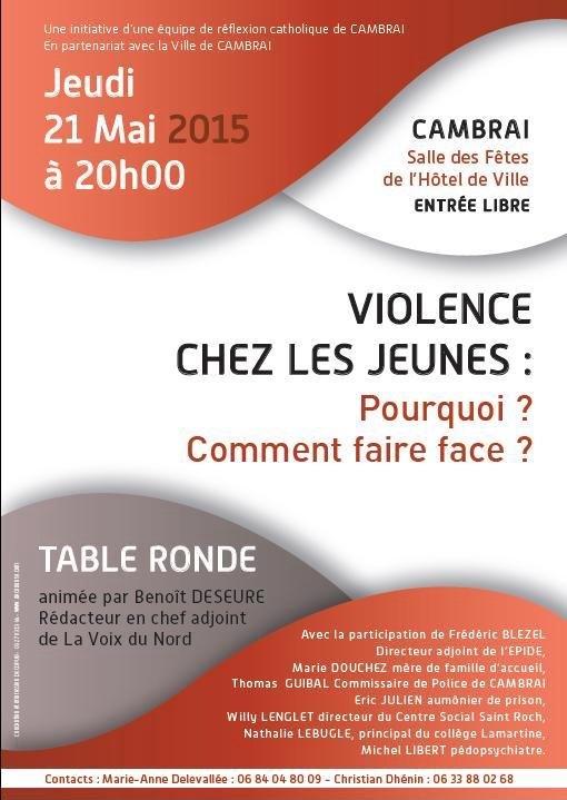 debat violence chez les jeunes 2015