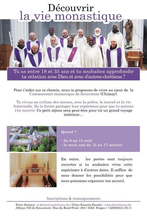 decouvrir vie monastique - Scourmont - 2021