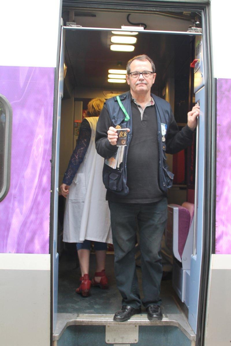 Départ du train Vert Douai 14