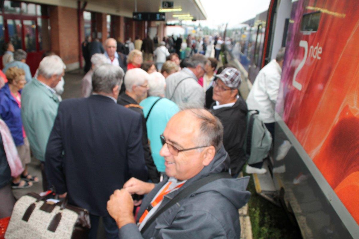 Départ du train Vert Douai 23
