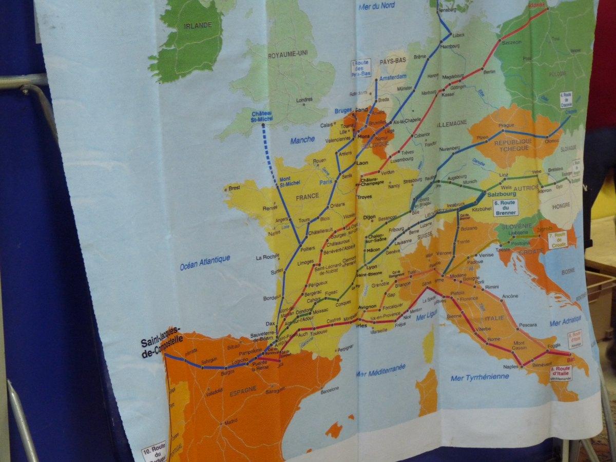 Différentes routes pour Saint Jacques