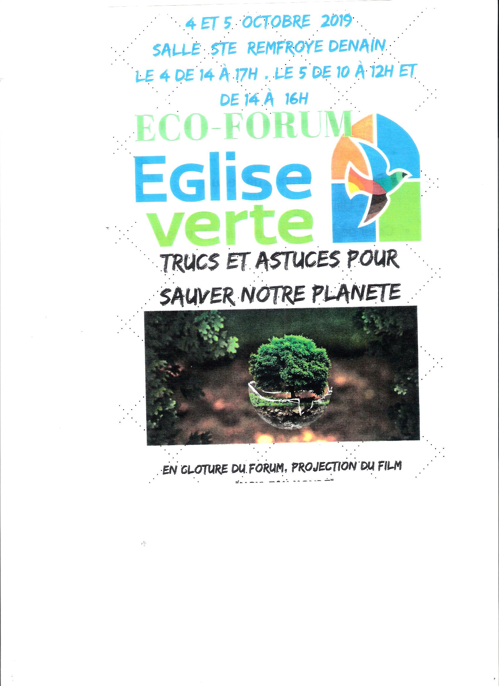 Eco Forum Eglise verte