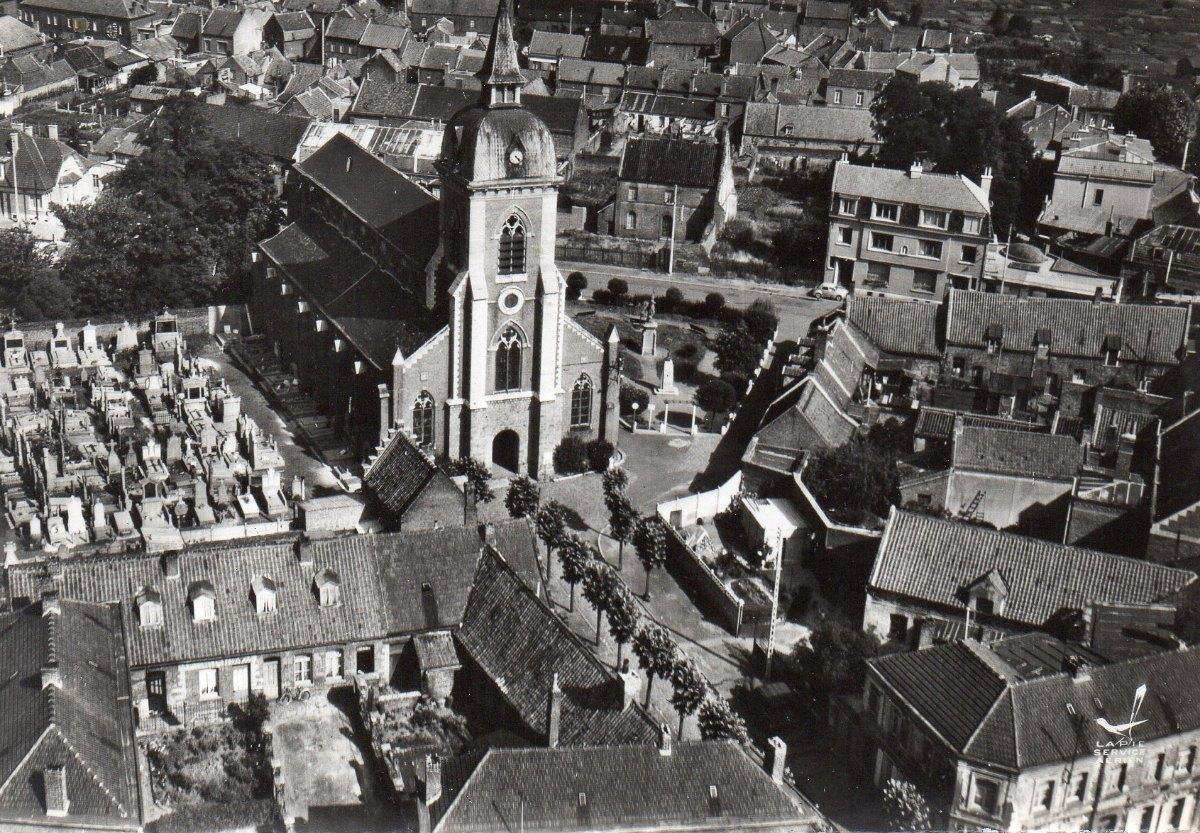 église et square années 60