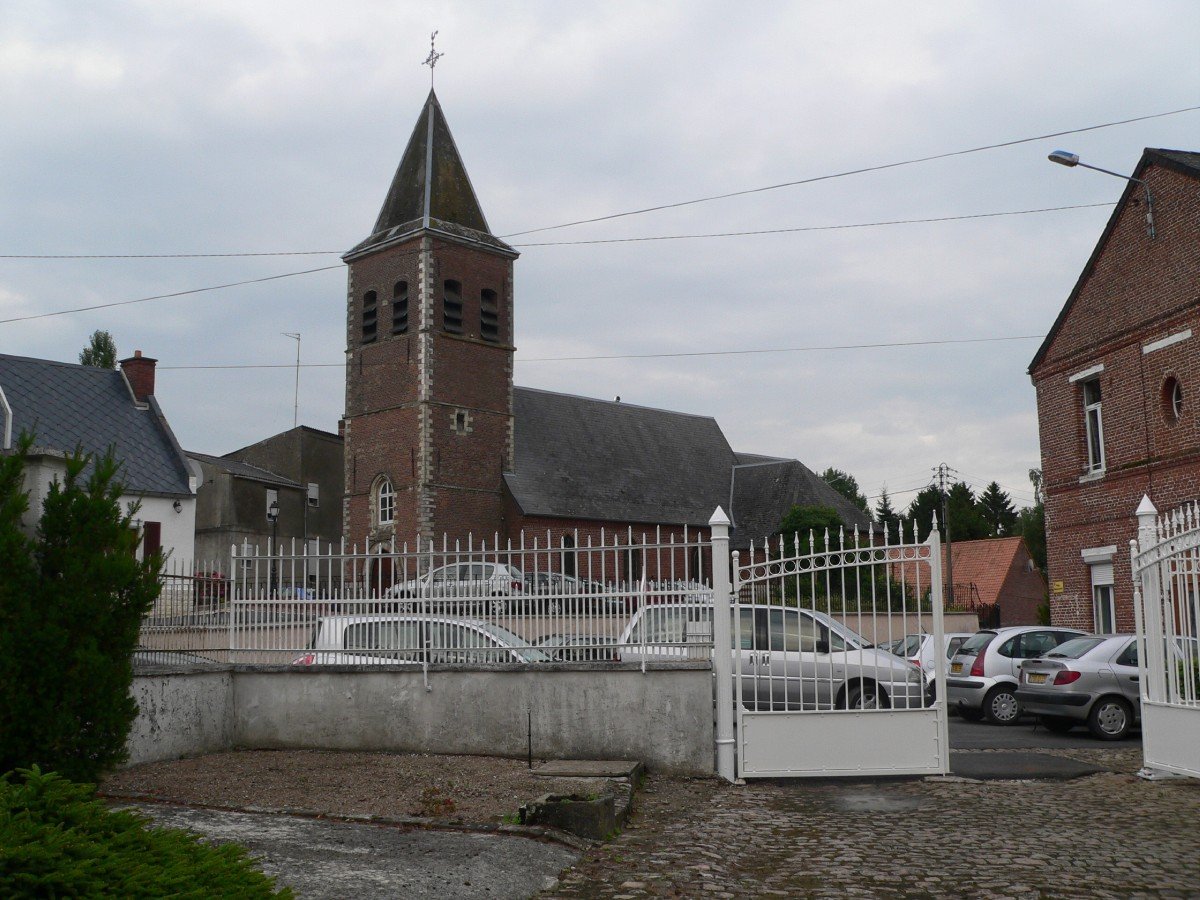église vue de chez nos hôtes