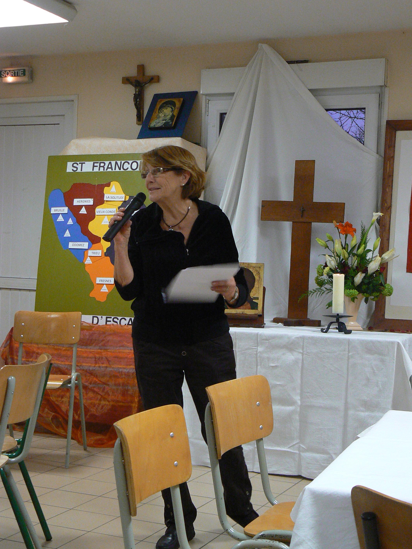 Evelyne présente Soeur Bernadette