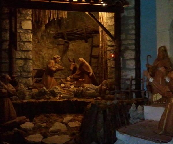 Exposition de Crèches église de  Greccio