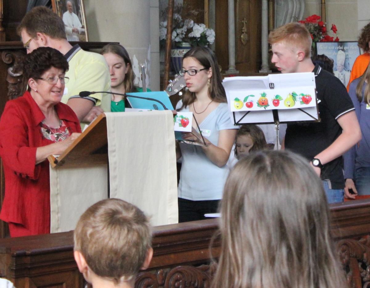 messe - accueil par  la paroisse