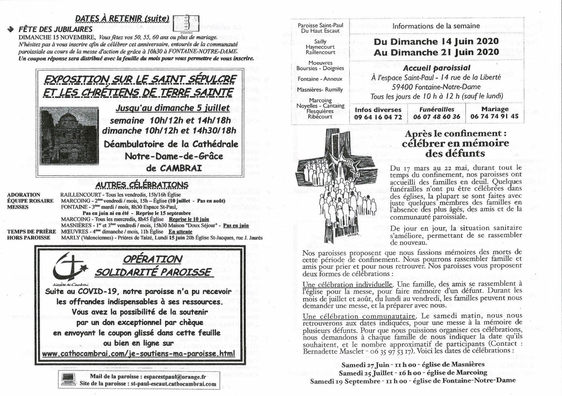 feuille hebdo du dimanche 14 juin 2020-1