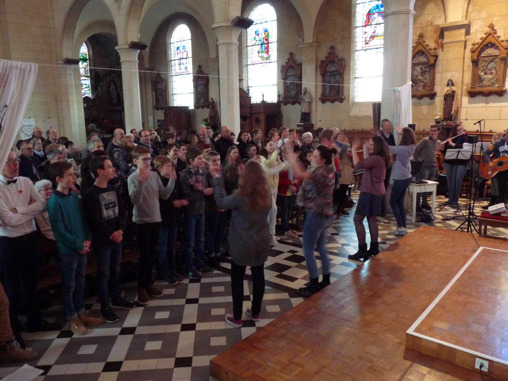 flash mob  recevez l'Esprit Saint