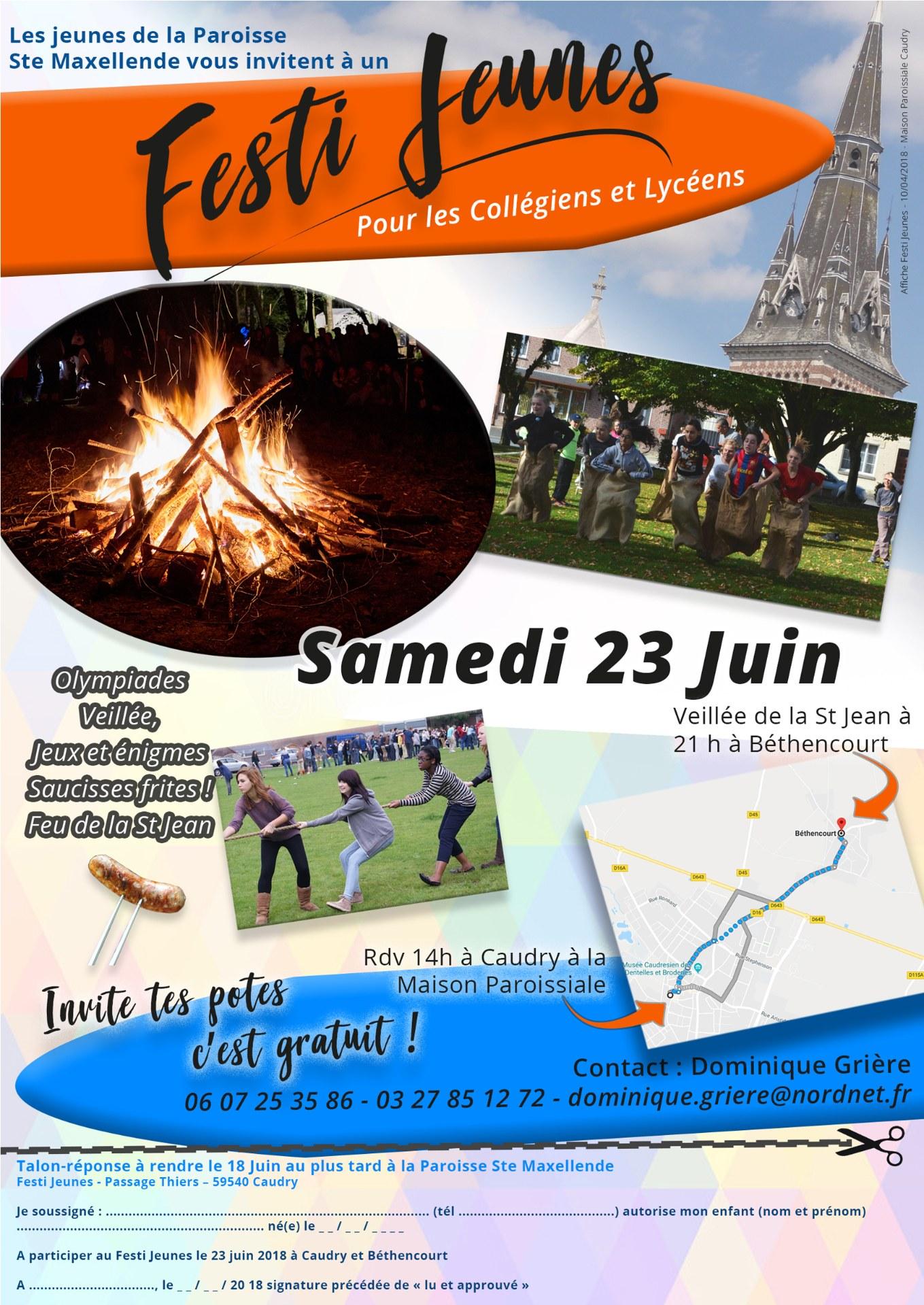 Flyer Festi Jeunes Caudry