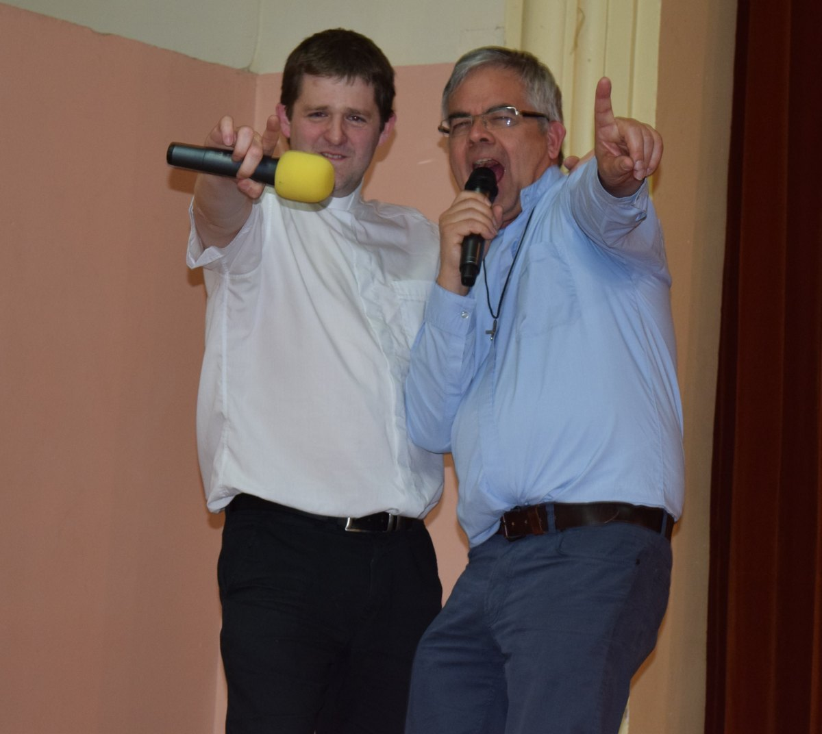nos 2 présentateurs : Matthieu et Jean-Marie