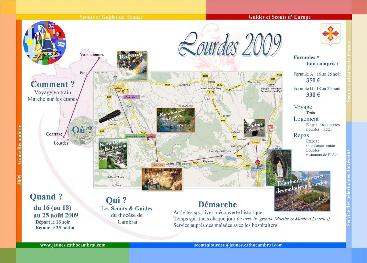 Guides et Scouts a Lourdes 2009 - affiche
