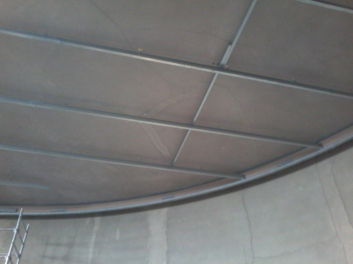 Préparatifs pour le nouveau plafond
