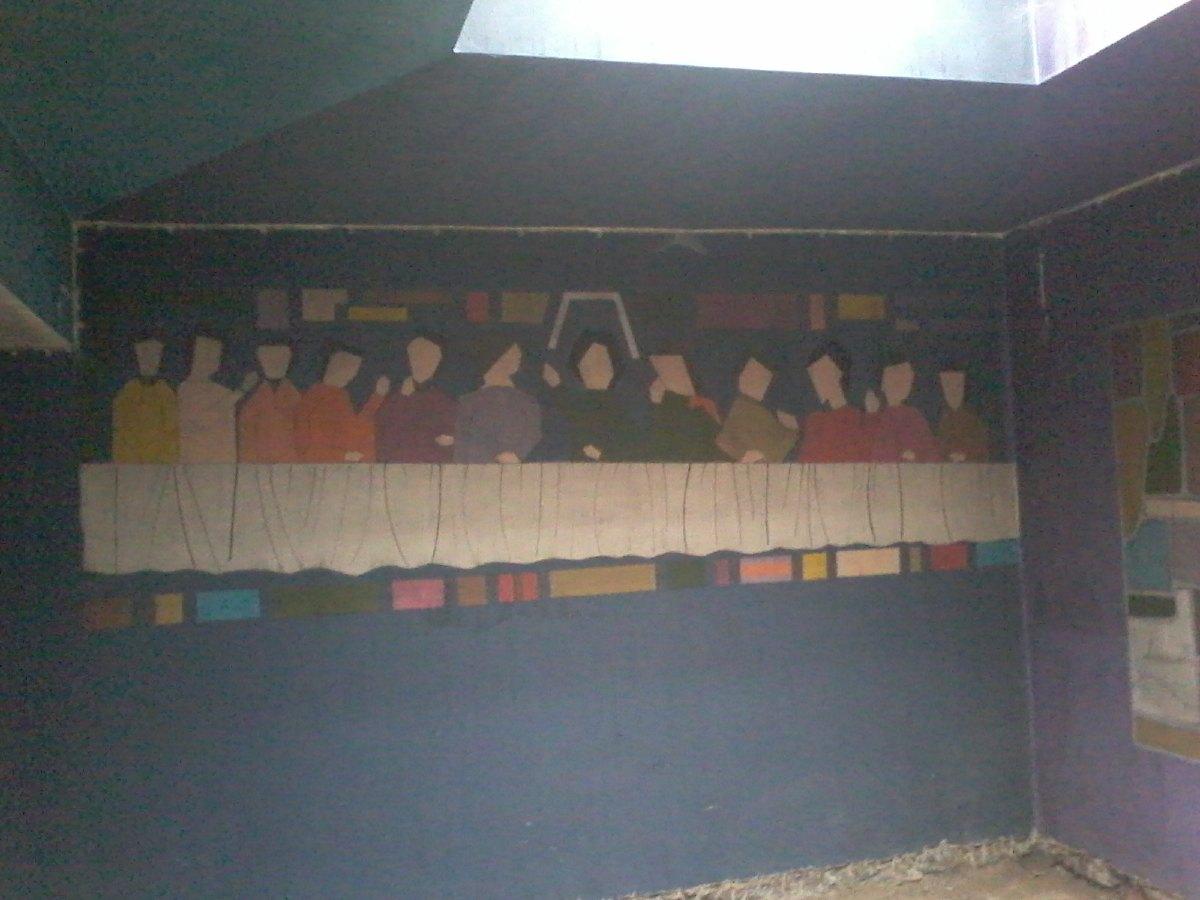 Les fresques de la sacristie.