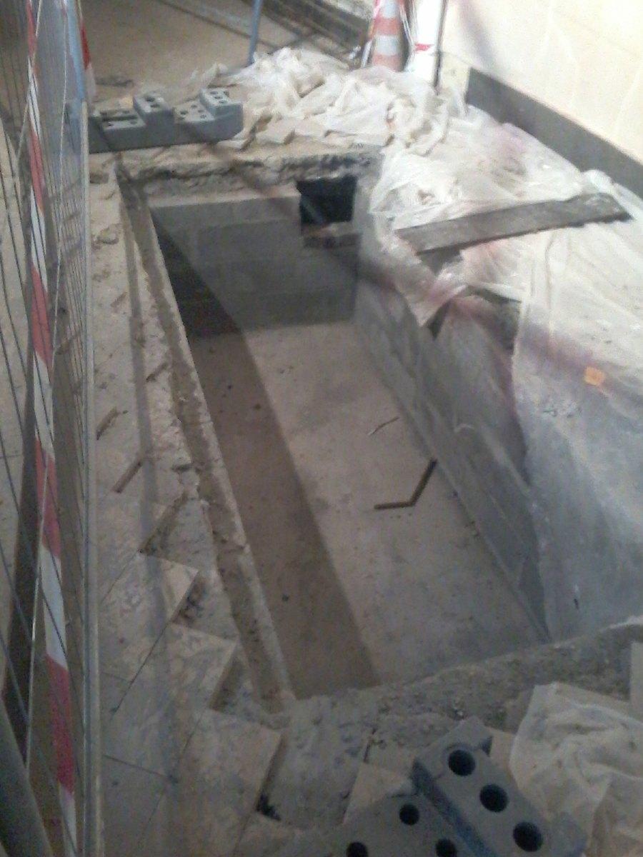 Les fosses qui accueilleront les appareils de chauffage