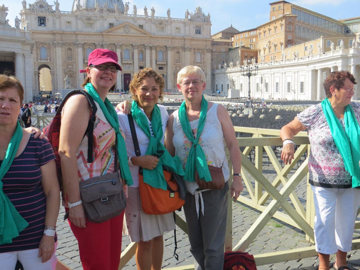 Sandrine, Corinne, Marie-Agnès à Rome