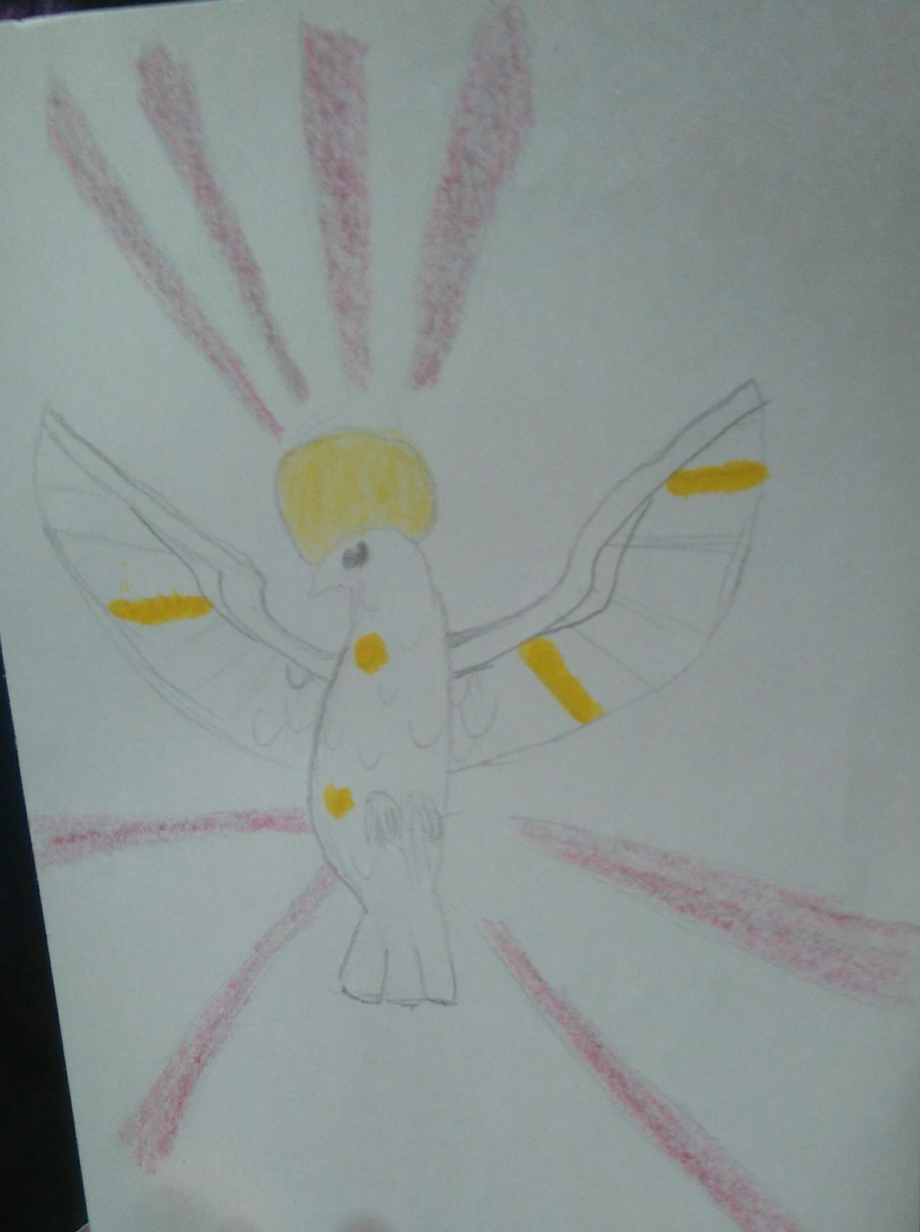 C dessine la colombe de la basilique