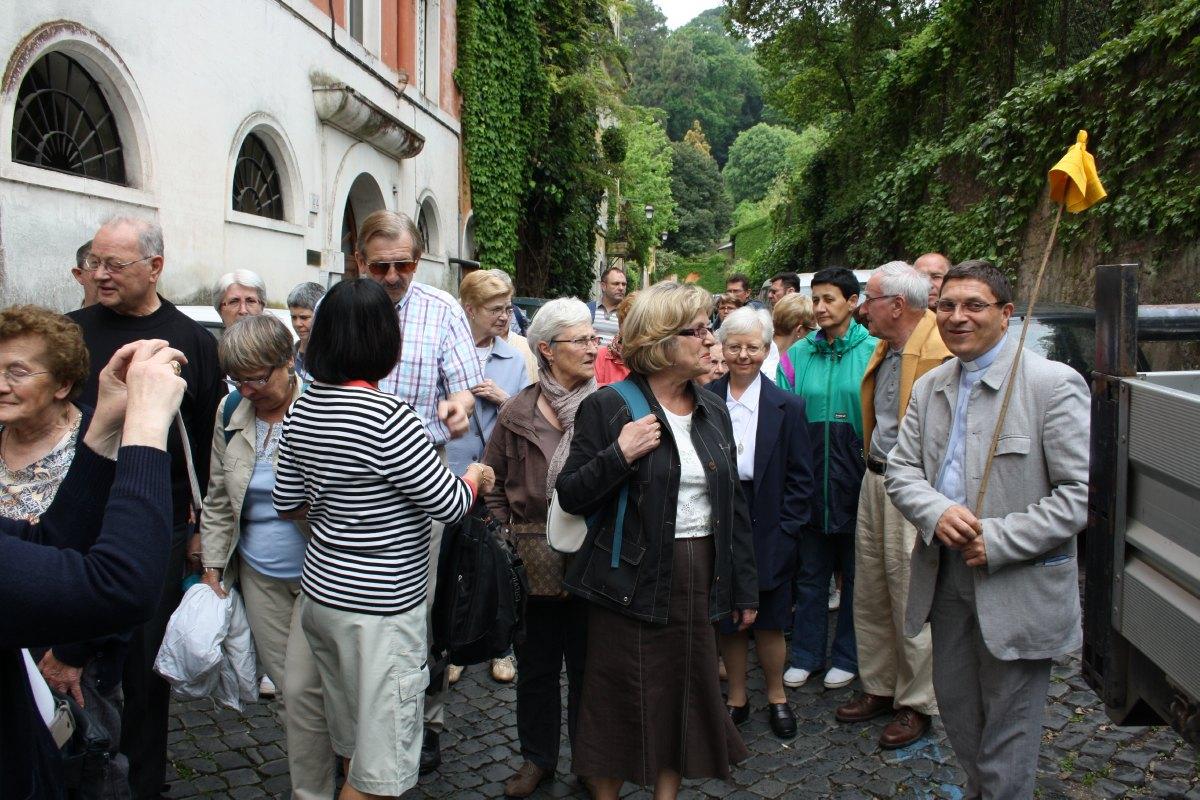 Départ pour la Basilique Ste Marie in Trastavere