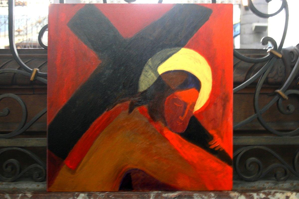 Jésus porte la croix