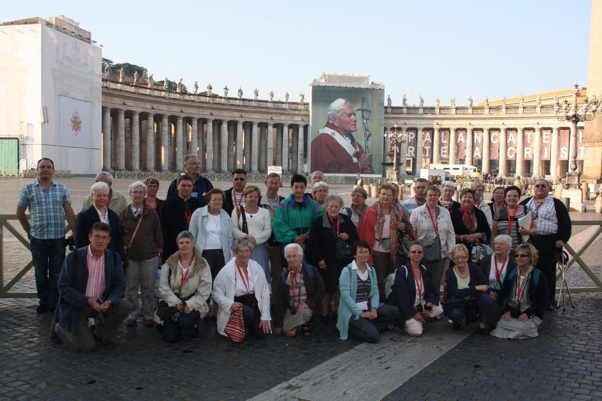 Avant la visite de la Basilique St Pierre
