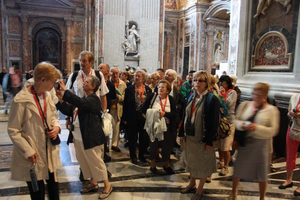Dans la Basilique St Pierre