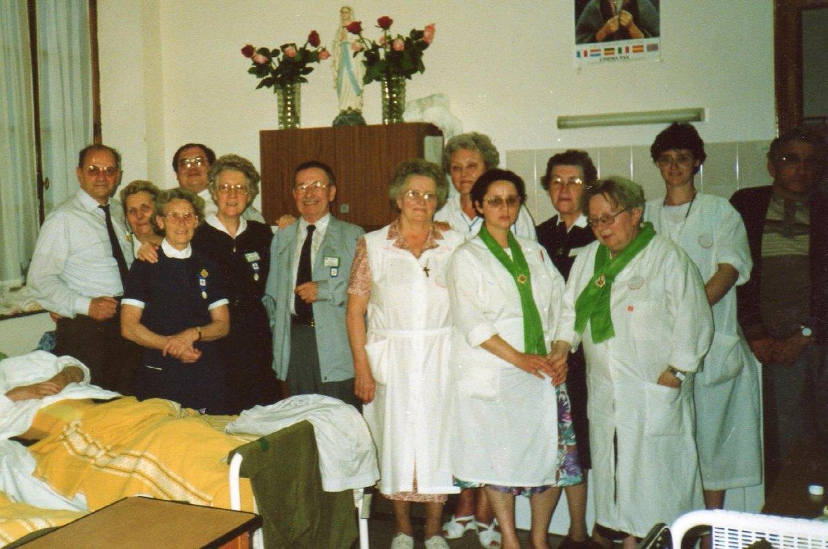 Lourdes Mai 1991 salle St Michel B