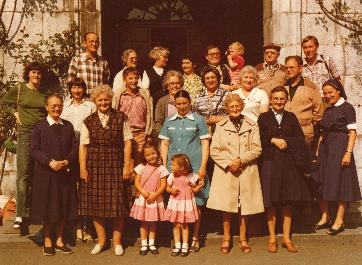 pèlerins et hospitaliers de Râches Août 1978