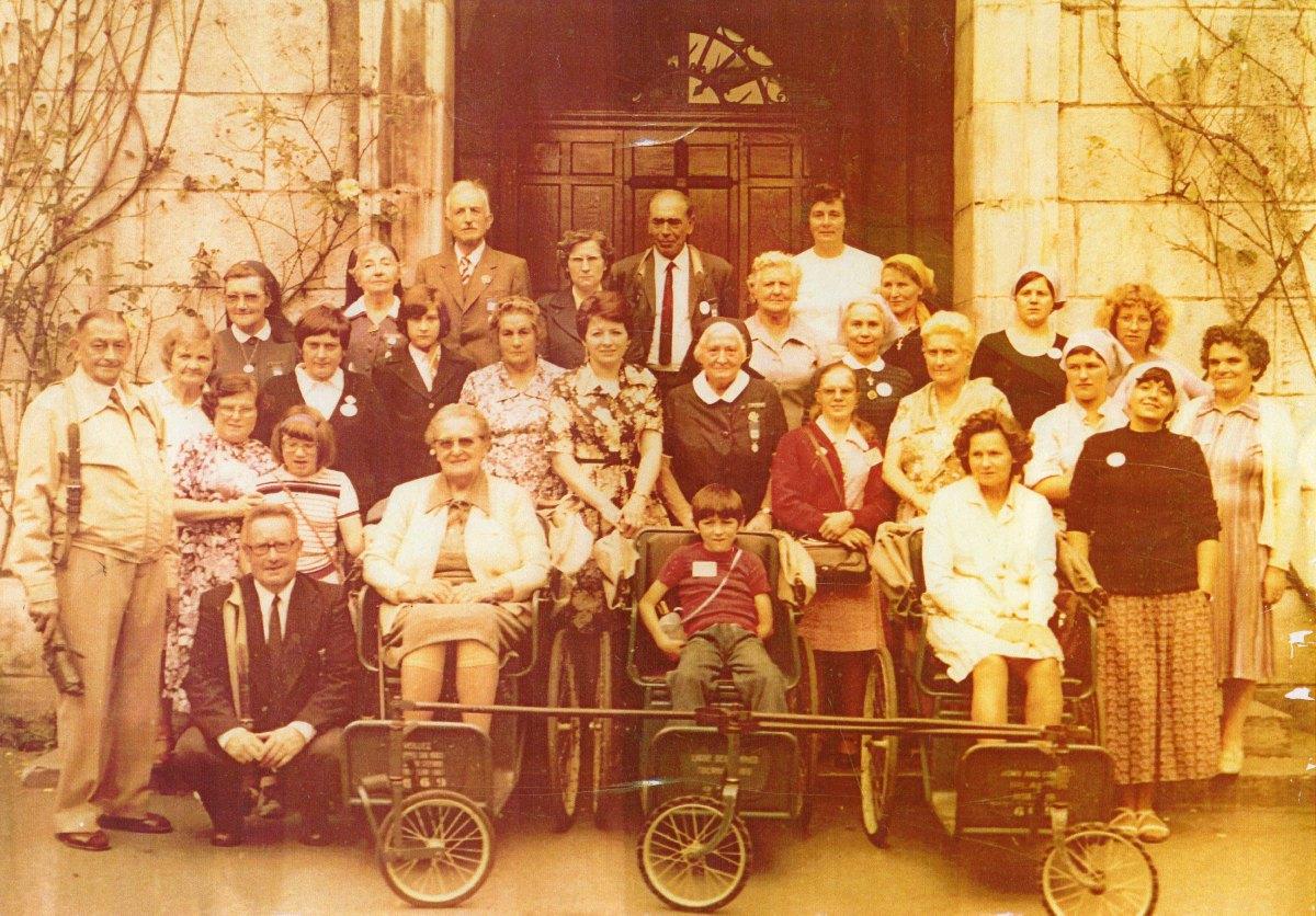 Hospitaliers et malades du secteur de Lewarde Août 1977