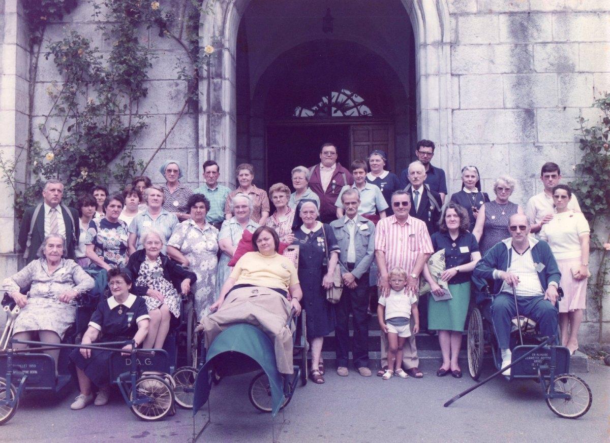 Hospitaliers et malades du secteur de Lewarde Août 1984
