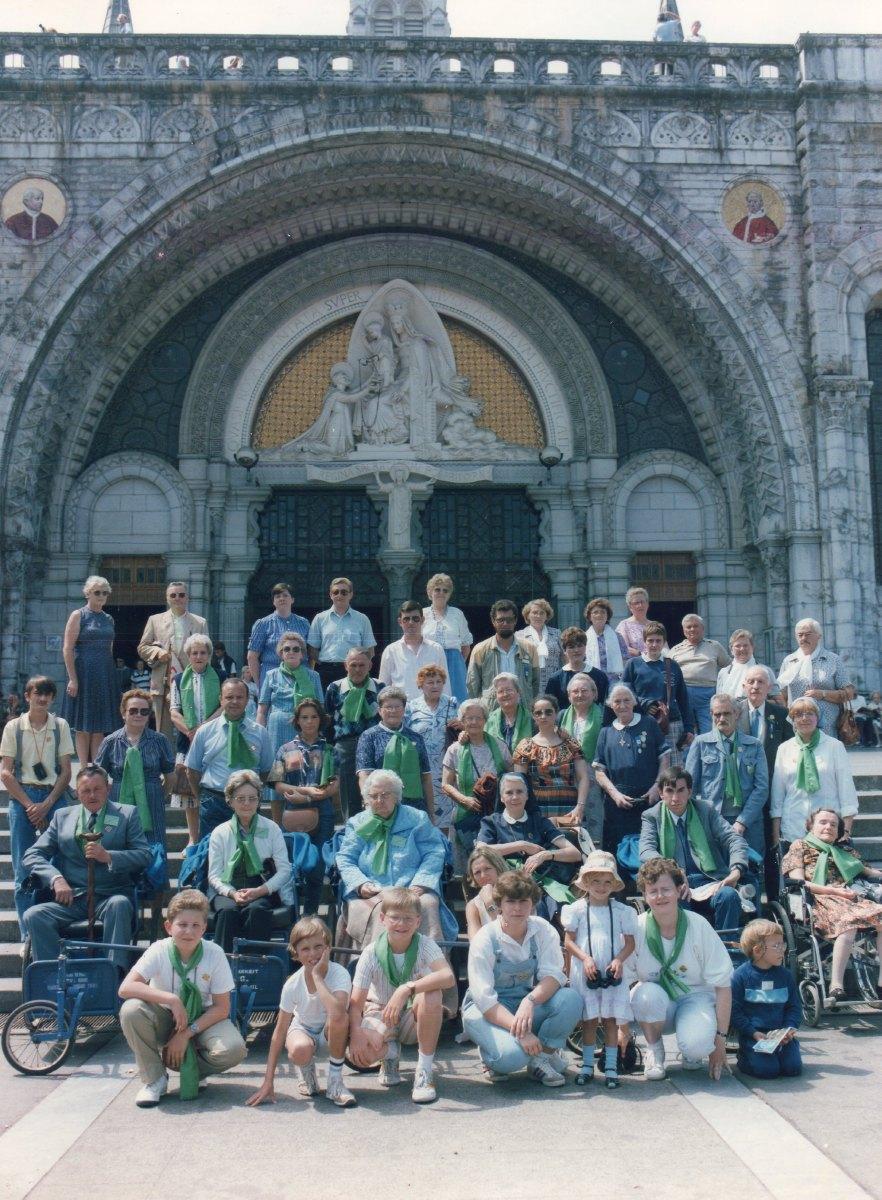 Hospitaliers, pélerins, malades du secteur de Lewarde août 1985