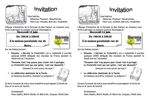 Invitation  AG Bon Pasteur-12 juin 2013