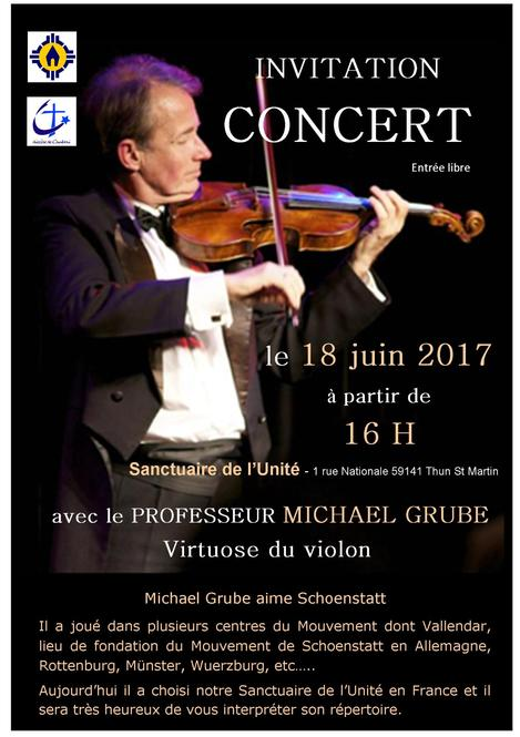 Invitation Concert Michael Grube - 18 juin 2017 -