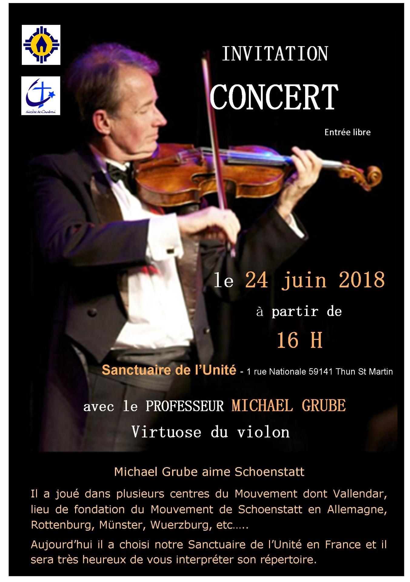 Invitation Concert Michael Grube - 24 juin 2018 -