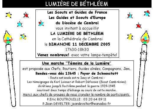 invitation lumiere