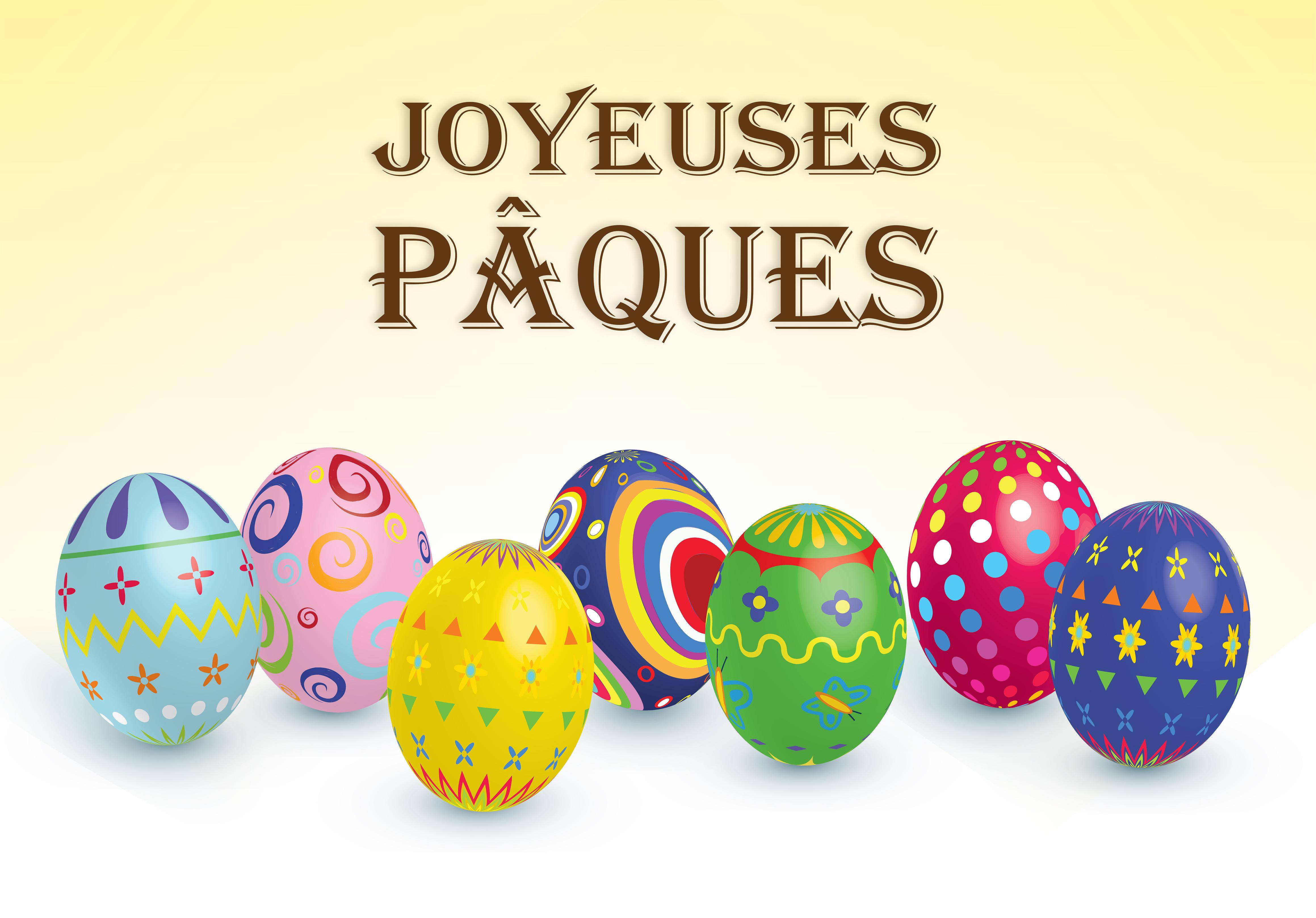 Joyeuses Pâques, œufs.