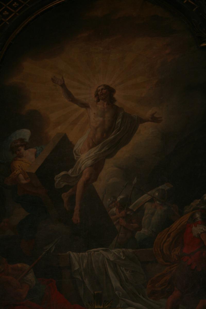 La résurrection du Christ, dans le bras nord du tr