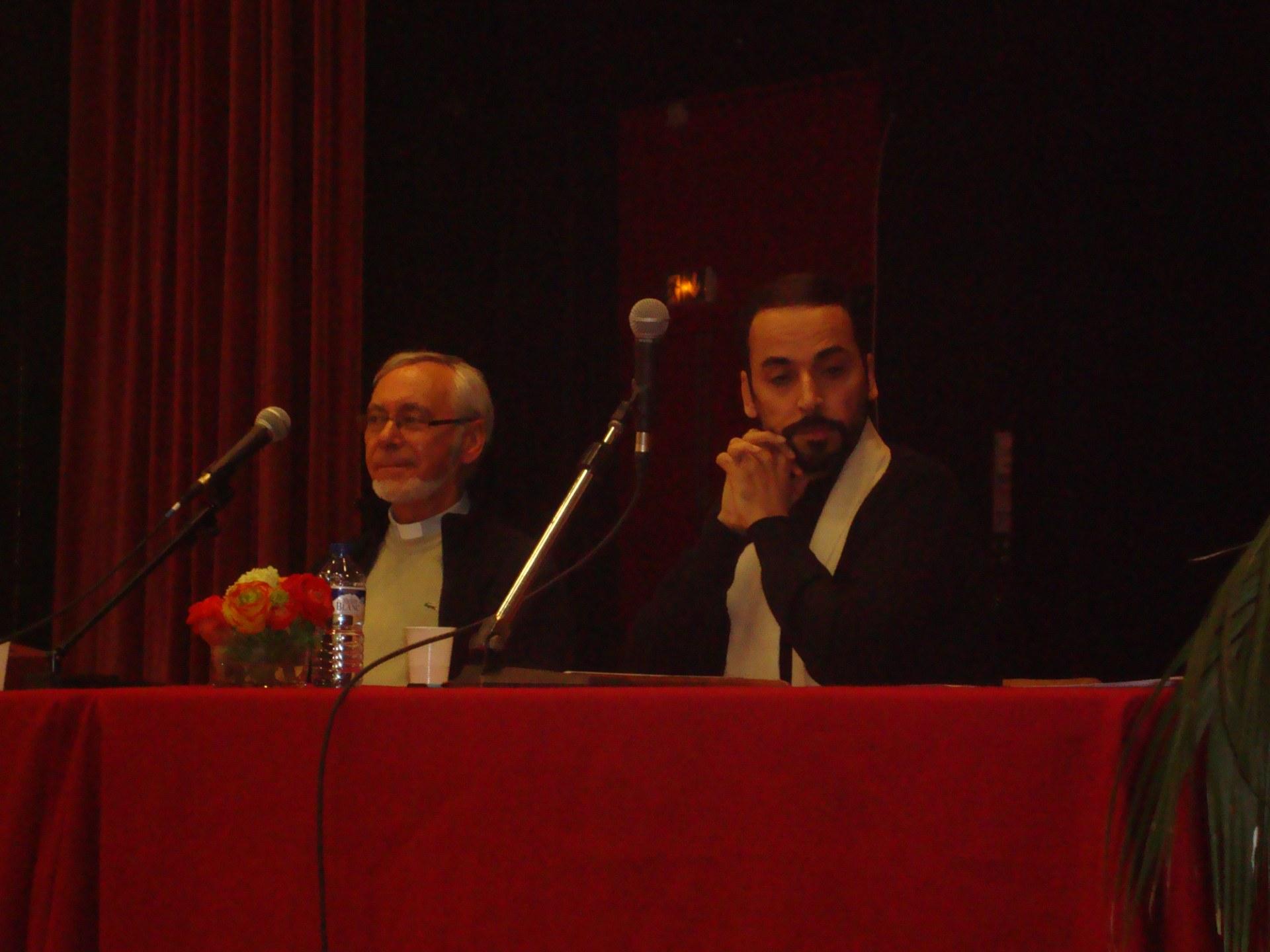 Le pere Andre Merville et Mr Tayeb Chouiref