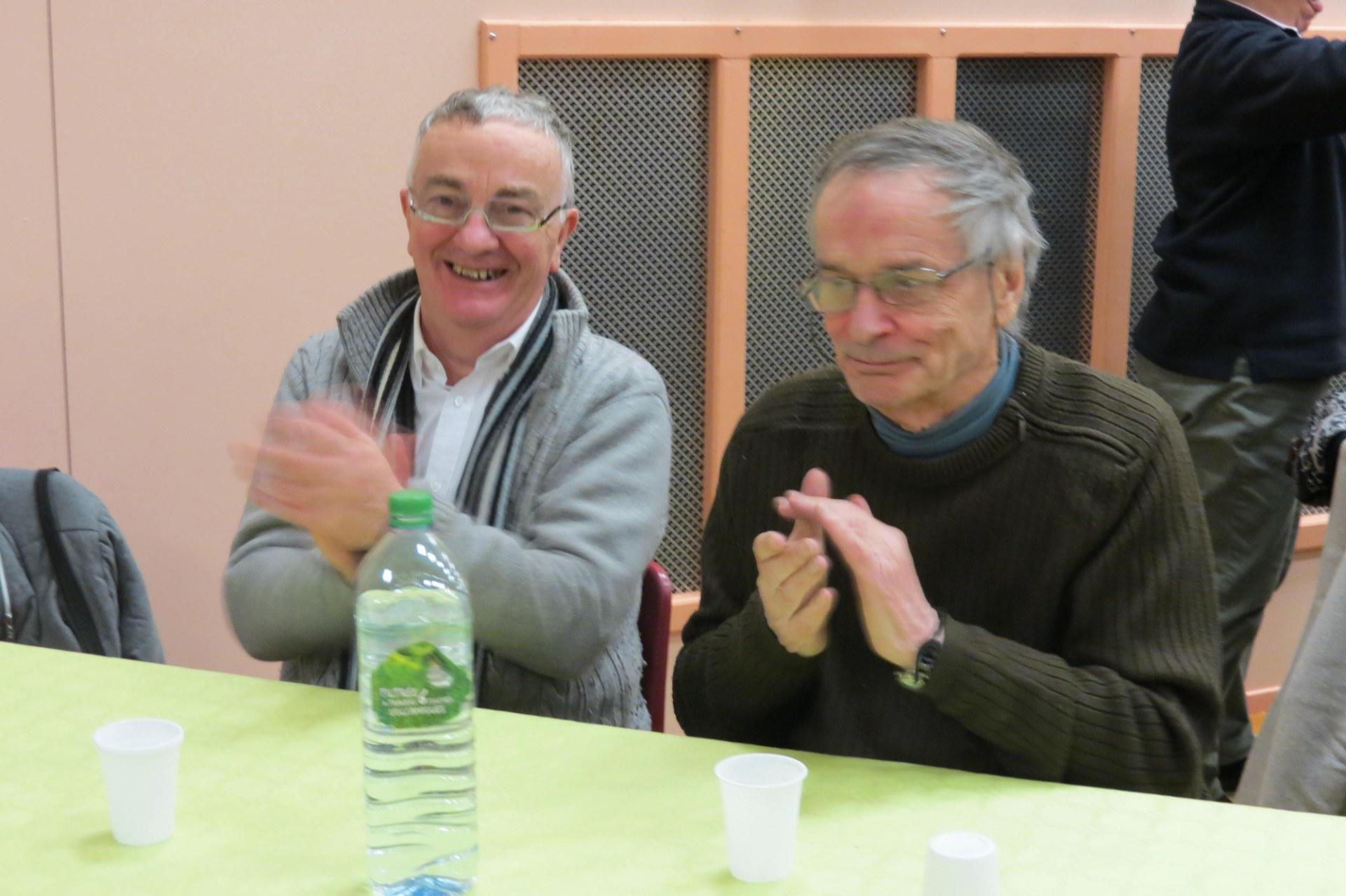 Le sourire de Jean- Luc et Patrick
