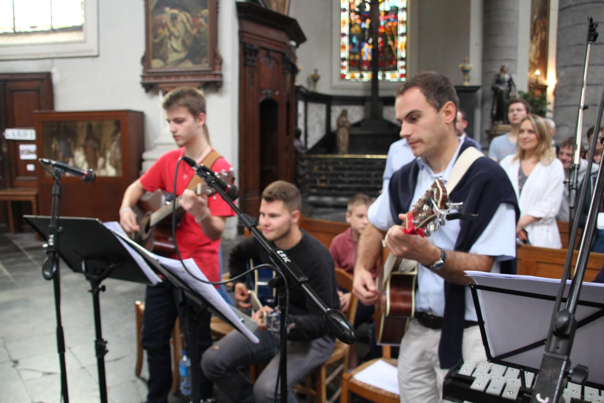 Les musiciens.