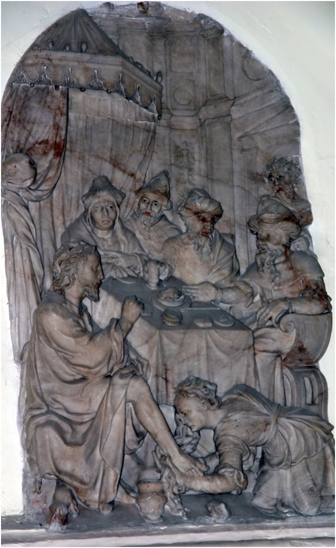 Luc 7 haut relief St Gery Cambrai