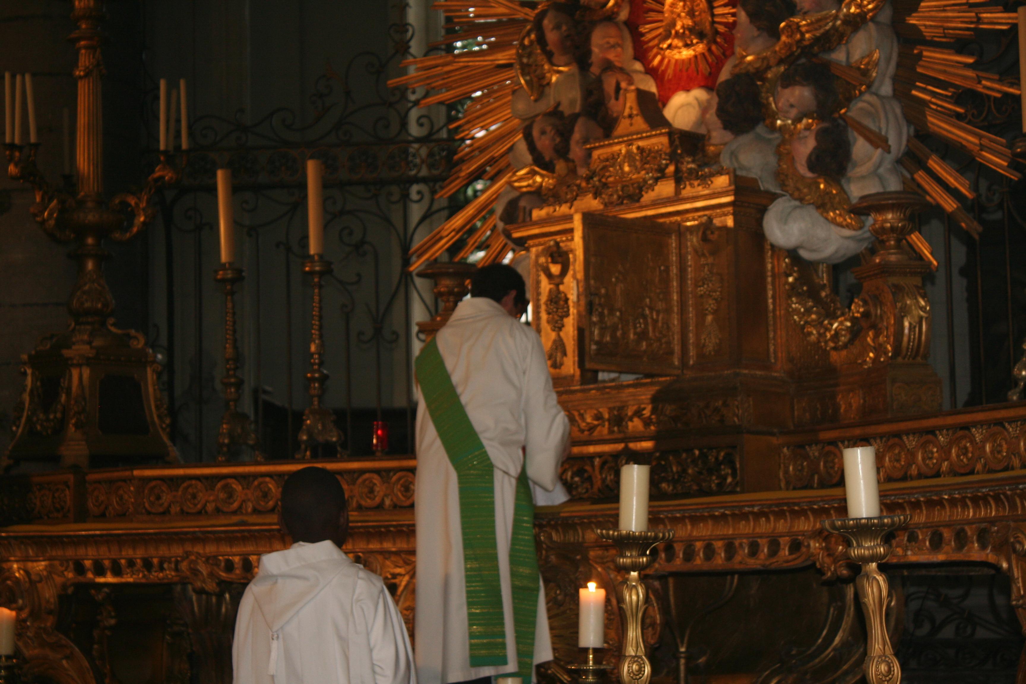 Matthieu Bobin au tabernacle