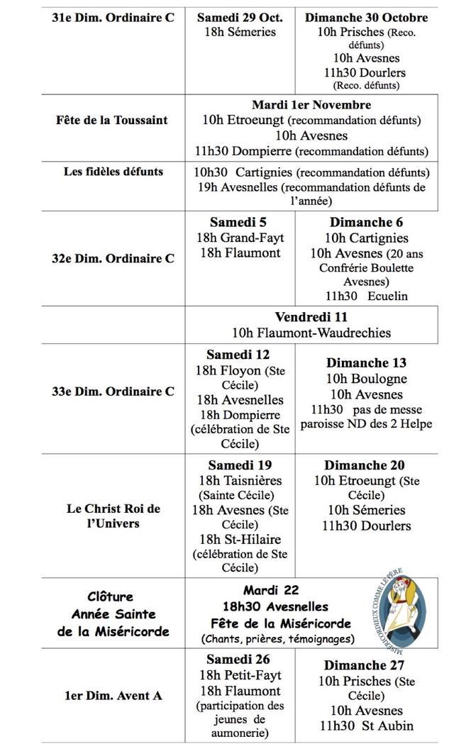 MESSES NOVEMBRE-2