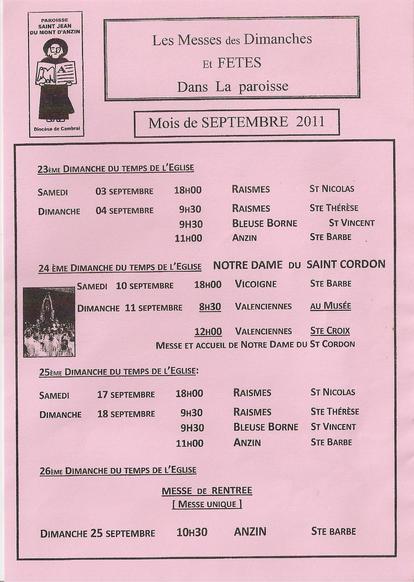 Messes_septembre